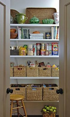 baskets to clean up pantry