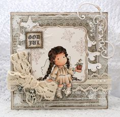 A Little Gift Tilda, Sweet Christmas Dreams collection, Magnolia stamps