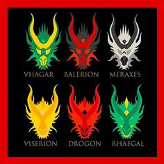 Game of Thrones Dragons! Game Of Thrones Books, Game Of Thrones Dragons, Got Dragons, Got Game Of Thrones, Game Of Thrones Houses, Mother Of Dragons, Tatuagem Game Of Thrones, Game Of Thones, Cute Games