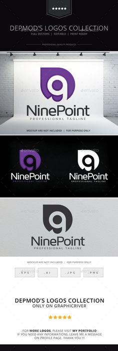 Nine Point Logo Template Vector EPS, AI Illustrator #logotype Download here: http://graphicriver.net/item/nine-point-logo/10011798?ref=ksioks