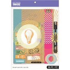 K&Company Smash Folio Bundle - Blue Smash Book, The Mccoys, Kit, Joann Fabrics, Sticky Notes, Journal Cards, Scrapbook Paper, Scrapbooking, Create Yourself