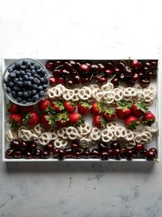 strawberry blueberry yogurt covered pretzels fruit tray | 50 best images about 4th of July Recipes on Pinterest | Red white blue ...