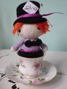 """crochet amigurumi pattern Mad Hatter from alice in wonderland."" #Amigurumi  #crochet"