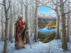 Seek visions always of world beauty, not violence nor battlefields. —Hopi [Artwork by Charles Frizzell]