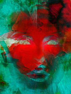 'The red face' von Gabi Hampe bei artflakes.com als Poster oder Kunstdruck $20.79