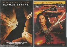 Batman Begins (DVD, 2005, Widescreen) Bundled with The Mark Of Zorro