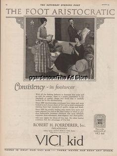 1923 Robert H Foerderer Vici Kid Women's Shoes 1920s Footwear/Fashion/Style Ad