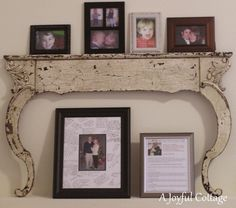 Antique Dresser Harp Bow Frame Mirror Frame By