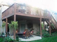 Deck remodel idea with patio underneath