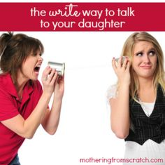 Mother-Daughter communication is complicated, especially when they hit the tween and teen years. I found a way to communicate without all the heated emotions. This method was a lifeline for me and my daughter during the middle school years!