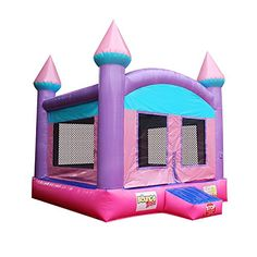 Inflatable Commercial Grade Bounce House Sparking Princess PVC With Blower Princess Bounce House, Things That Bounce, Bookends, The 100, Commercial, Entertaining, Outdoor Decor, Party, Fun