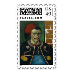 The Zouave by Vincent Van Gogh #Postage #Stamps