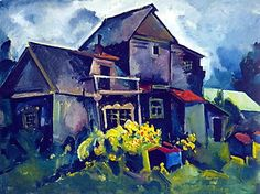 'Country House. Village Zyuzino' by Aristarkh Lentulov (1882-1943, Russia)