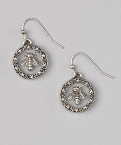 Take a look at this Silver Oxidized Bee Earrings by Marlyn Schiff on #zulily today!