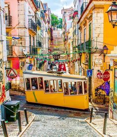 Stunning colors in Lisbon🇵🇹🚋📷 . Places To Travel, Places To Go, Travel Destinations, Lisbon Tram, Portugal Travel Guide, Portugal Trip, Eurotrip, City Break, Adventure Is Out There