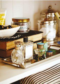 silver perfume tray