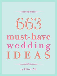 A Plethora of Ideas for Your Wedding That You'll Absolutely Love.. pin now read later