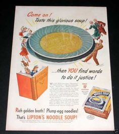 Lipton's Noodle Soup, Glorious (1944)