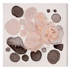 "Oliver Gal's Winter Roses canvas wall art infuses spaces with modern romance. Blush blooms with metallic details adorn pebble-inspired silhouettes in gray hues for a glamorous effect. Fine art canvas print; Professionally hand stretched; Gallery wrapped in 1.5"" wide, FSC certified wood; Wood used on items larger than 45x30 is 2"" wide; Ready to hang; Hardware included; Accompanied by a certificate of authenticity; Made in the USA; 16""W x 16""H; 20""W x 20""H; 36..."
