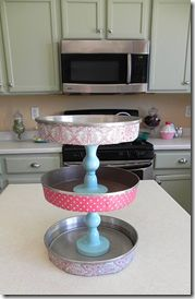 tiered stands from cake pans