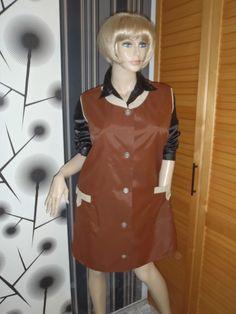 Nylon Kittel Schürze XL Vintage Glanz Blouse Sissy Boy Silk Apron Overall in Kleidung & Accessoires, Vintage-Mode, Vintage-Mode für Damen | eBay!