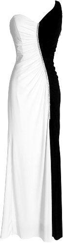 One Shoulder Stretch Black & White Evening Gown Prom Dress PacificPlex, http://www.amazon.com/dp/B0075D4NYO/ref=cm_sw_r_pi_dp_IBCbrb1RG8618