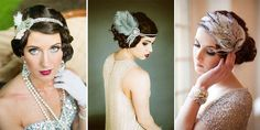 46 Great Gatsby Inspired Wedding Dresses and Accessories 46 Great Gatsby Inspired Wedding Dresses and AccessoriesIt is true that and the Great Gatsby themed weddings never lose popularity. Great Gatsby Themed Wedding, Art Deco Wedding, Themed Weddings, 1920s Wedding, Finger Waves Wedding, Finger Wave Hair, Antique Wedding Dresses, Pelo Vintage, Headpiece Wedding