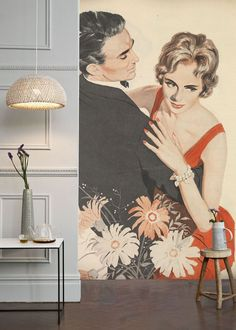 Classy Couple Dancing Mural from the Land of Lost Content collection Cultural Artifact, Classy Couple, Wall Painting Decor, Wall Art Wallpaper, Heart For Kids, Unique Image, Wall Murals, Dance, Couples