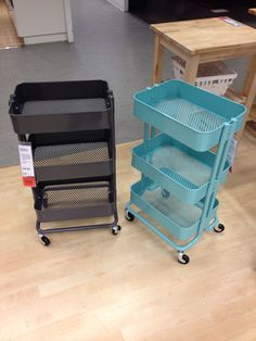 Saw these at Ikea tonight, they're so cute and great for storage in a small kitchen/apartment :)