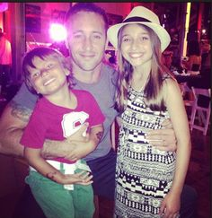 Adorable! Alex,Spike,and Teilor at the #H50 wrap party I believe.
