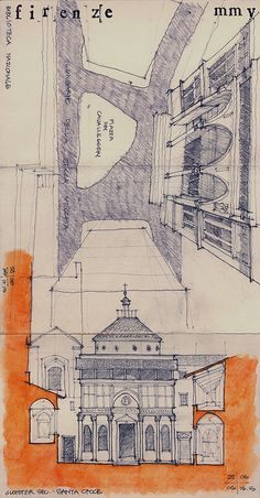 Chris Cornelius - Travel sketch from Florence, Italy, 2005 / http://www.studioindigenous.com