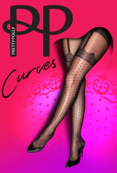 782d131867b Pretty Polly Curves Spot Lace Suspender Tights!! By www.sexychic.nl