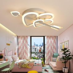 Cupid Design Modern led ceiling light dimmable – My Home Design 2019 House Ceiling Design, Ceiling Design Living Room, Bedroom False Ceiling Design, Ceiling Decor, Living Room Lighting, Living Room Designs, House Design, Fall Ceiling Designs Bedroom, Home Ceiling