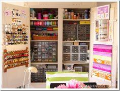 Craft Room Ideas IKEA | Organizing Ideas: How to Organize Craft Supplies in a Closet | In My ...