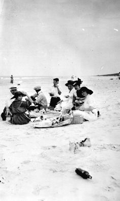 A timeless tradition! Grab your family and some food, and enjoy a picnic on the beach (ca. 1920). | Florida Memory