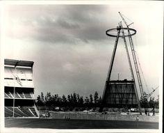 Anaheim Stadium Construction Early 1966    by Photoscream