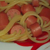 hot dog spaghetti!
