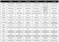toddler schedule with a printable that you can adjust to your own schedule