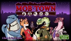 Mob Town. Not yet on Amazon, even though it fully funded in Kickstarter a year ago. Not 100% sure until l can see the final components. All reviews while the prototype. It's a unique theme, family game.
