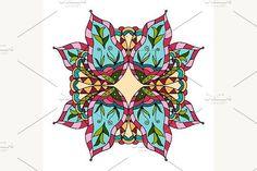 Ornate, eastern mandala. Patterns