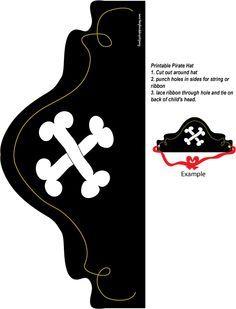 pirate hat printable (pirates & princesses)