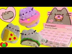 Video from the talented YouTuber    Pusheen Surprise Plushies Kitty Cat Snack Time Series in Blind Boxes - YouTube