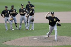 Jared Hughes in Pittsburgh Pirates v Milwaukee Brewers