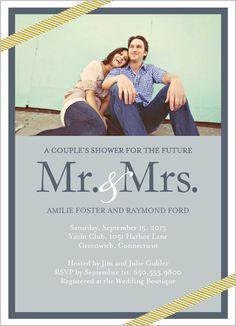 Future Mr Mrs Bridal Shower Invitation  We should use on of the Cape Cod Pics?