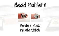 Bead Patterns  Mini Panda & Cute Koala Peyote / Brick Stitch