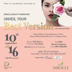 Sabtu, 10 September 2016 Jam 13.00 - Selesai Miracle Batam, Amara Ballroom…