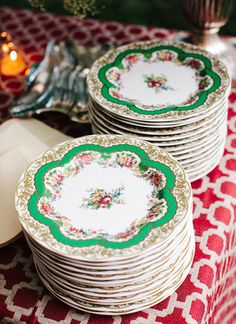 vintage china   Katie Stoops #wedding