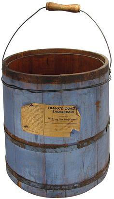 sauerkraut wooden pail