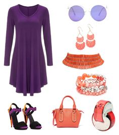 """""""purple & coral"""" by mcounce ❤ liked on Polyvore featuring Bulgari, Gucci, See by Chloé and Ruby Rd."""