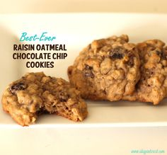 Best-Ever Raisin Oatmeal Chocolate Chip Cookies, straight from Grandma's kitchen!  These are one of my very favorite cookies!